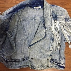 Vintage Jackets & Coats - 80s Stefano Int'l Acid Wash Jean Jacket